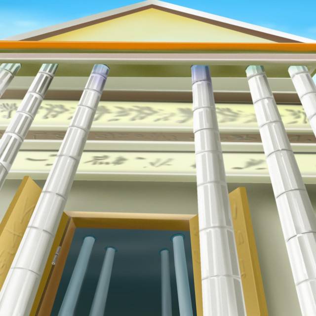 """""""Portico of an Ancient Temple"""" stock image"""