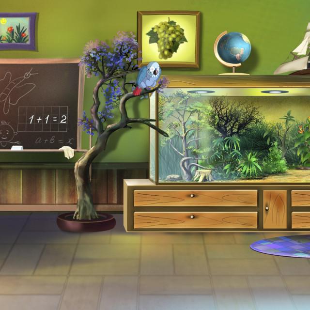 """Little Kids' Room."" stock image"