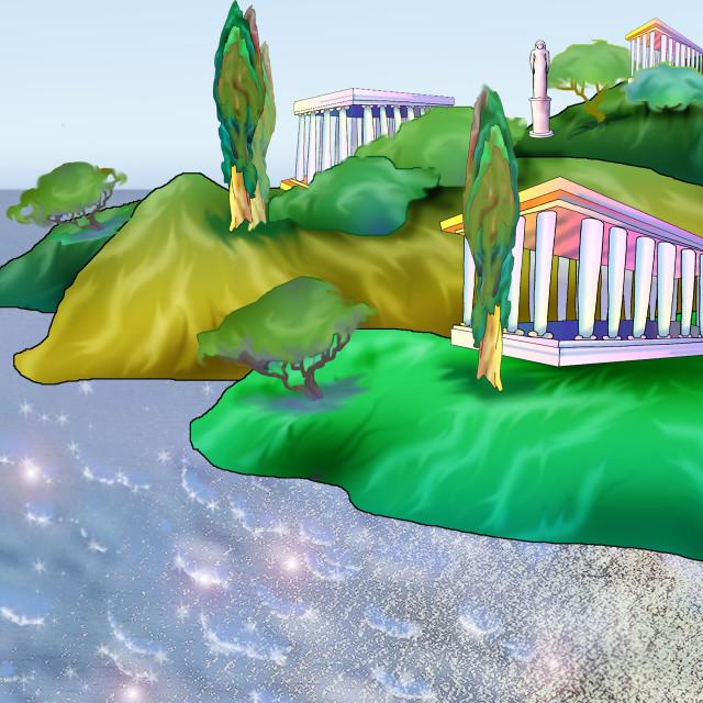 """Atlantis. Legendary Ancient City."" stock image"