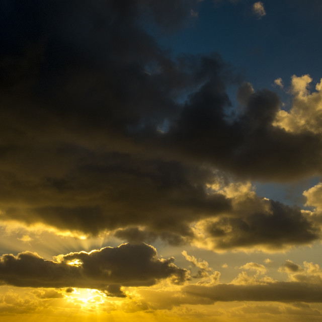 """Cloudscape in Lanzarote"" stock image"