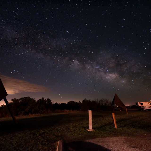 """Milky Way on a cold night"" stock image"