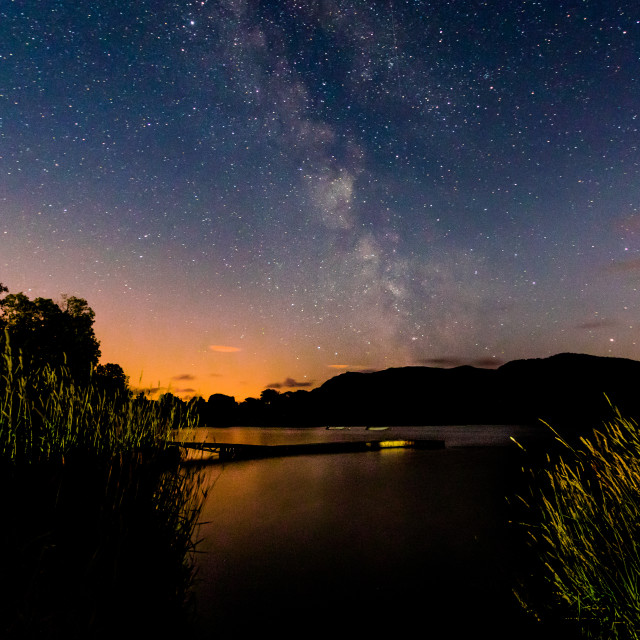 """Lakeland Nightscape"" stock image"