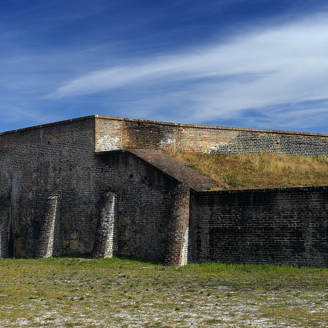 """Ft. Pickens Moat"" stock image"