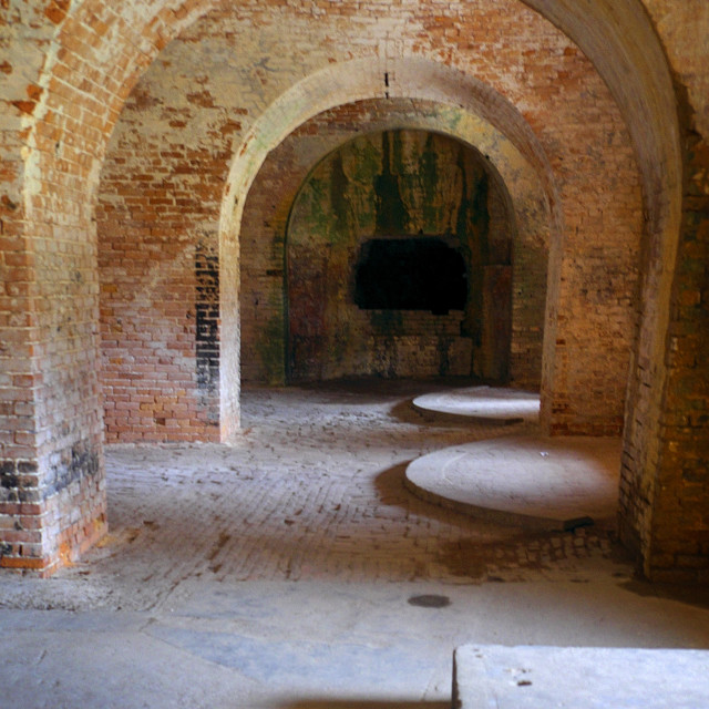"""Ft. Pickens Interior 3"" stock image"