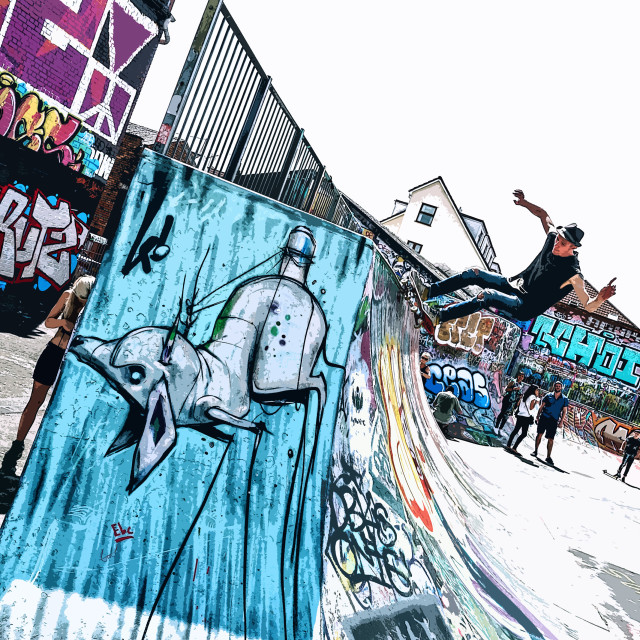 """Bristol Skate Park"" stock image"