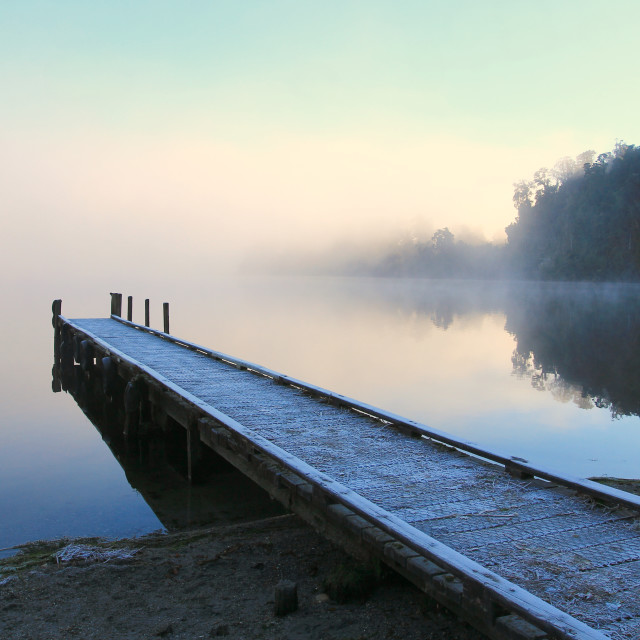 """misted jetty"" stock image"