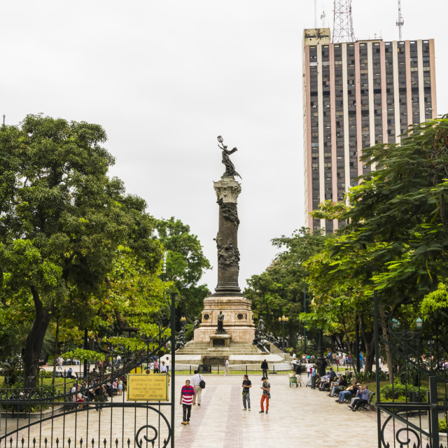 """Monumento of the Proceres in Guayaquil"" stock image"