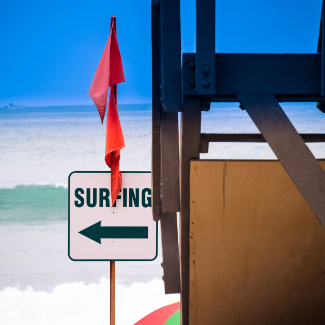 """Surfing that way"" stock image"