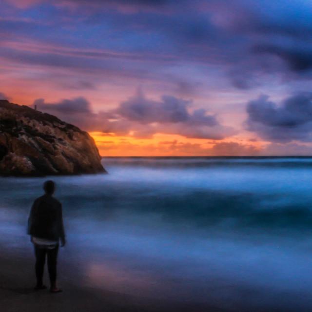 """Watching sunset #2"" stock image"