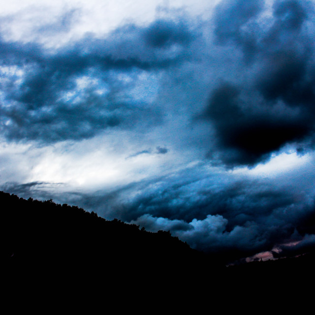 """""""Angry clouds"""" stock image"""