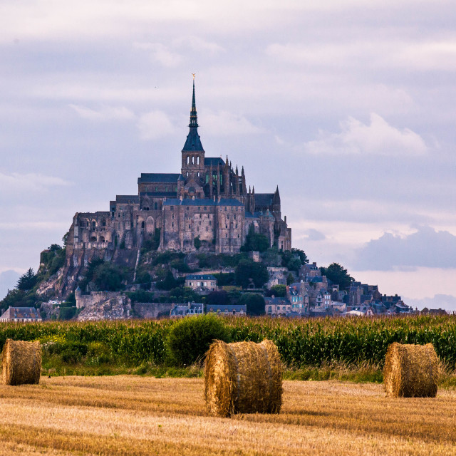 """Mont Saint Michel"" stock image"