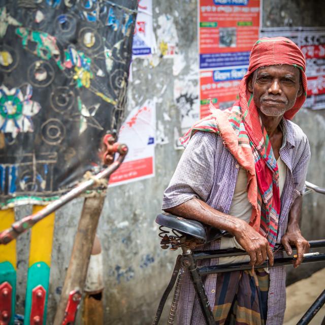 """Rickshaw driver"" stock image"