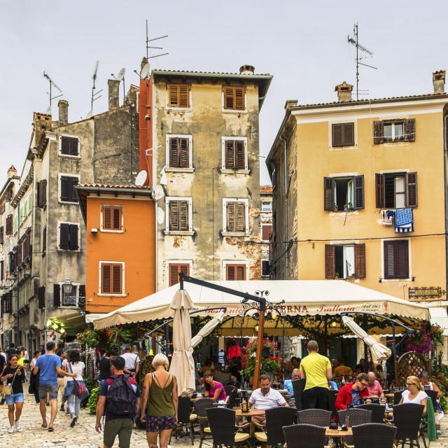 """Streets of Rovinj"" stock image"