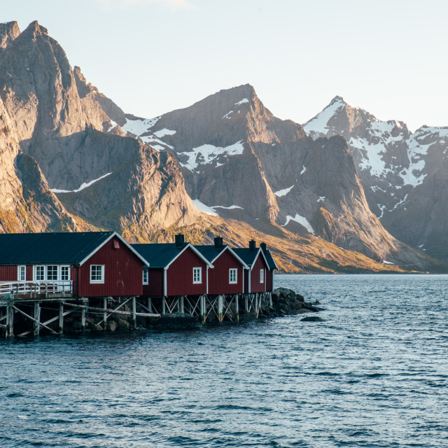 """Lofoten's villages"" stock image"
