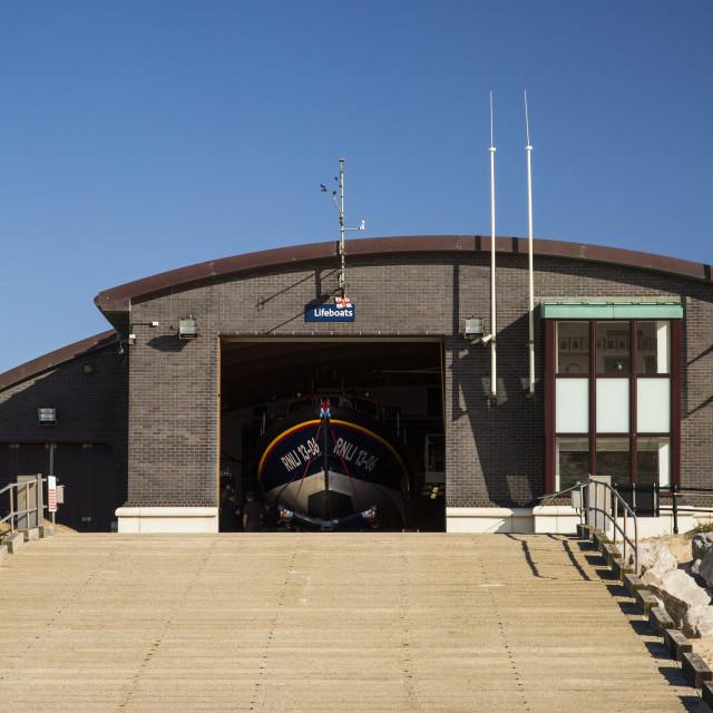 """""""Hoylake Lifeboat Station"""" stock image"""