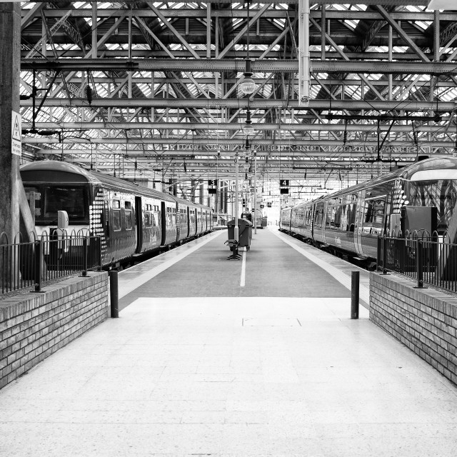 """Glasgow Central Train Station"" stock image"