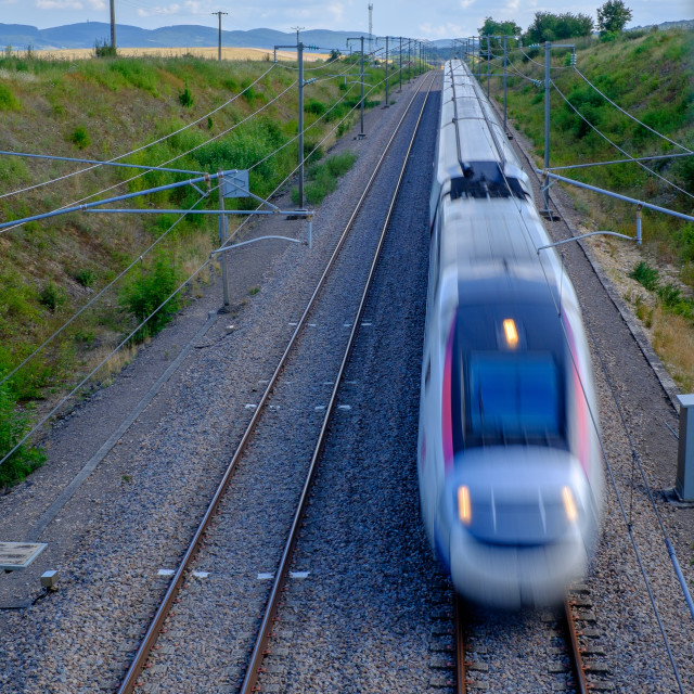 """A French TGV (High-Speed Train)"" stock image"