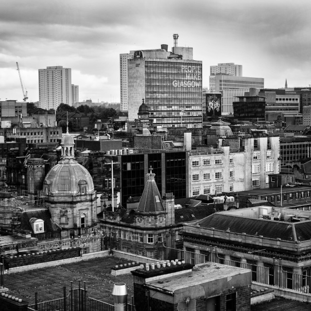 """View Of Glasgow"" stock image"