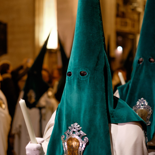 """Holy Week Procession During Semana Santa, Spain"" stock image"