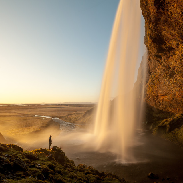 """Man in the mist, Iceland"" stock image"