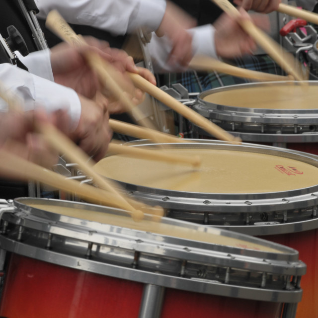 """Close up of snare drums"" stock image"