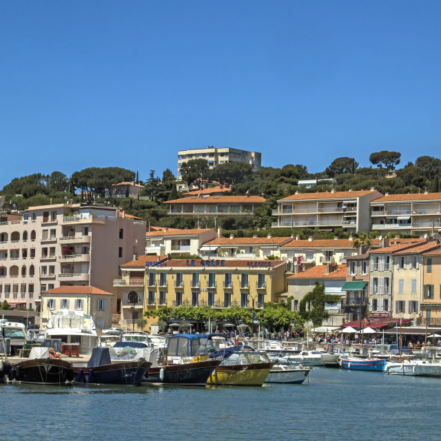 """Cassis Harbour, France"" stock image"