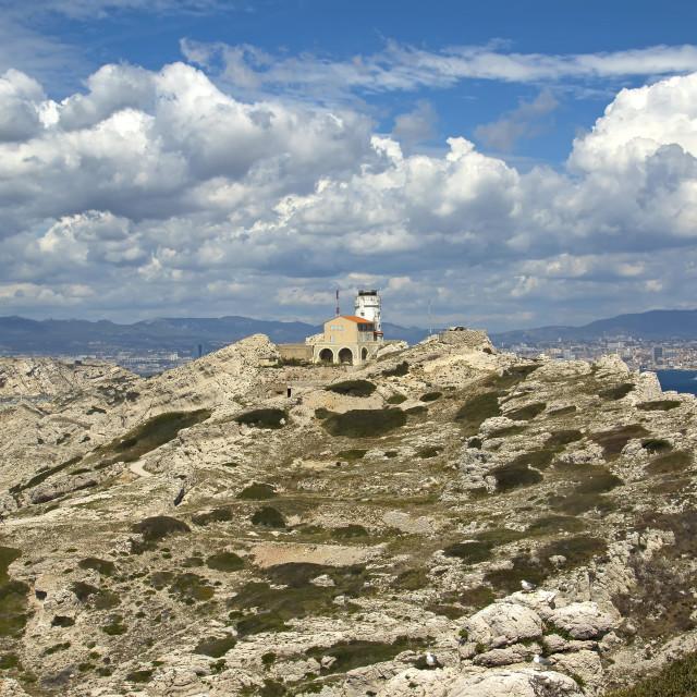 """Îles du Frioul, Marseille, France"" stock image"