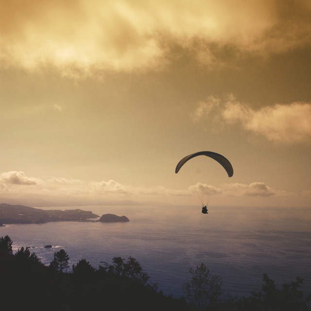 """Flying in Paragliding"" stock image"