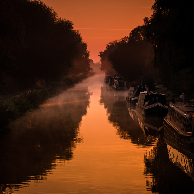 """Canal golden hour"" stock image"