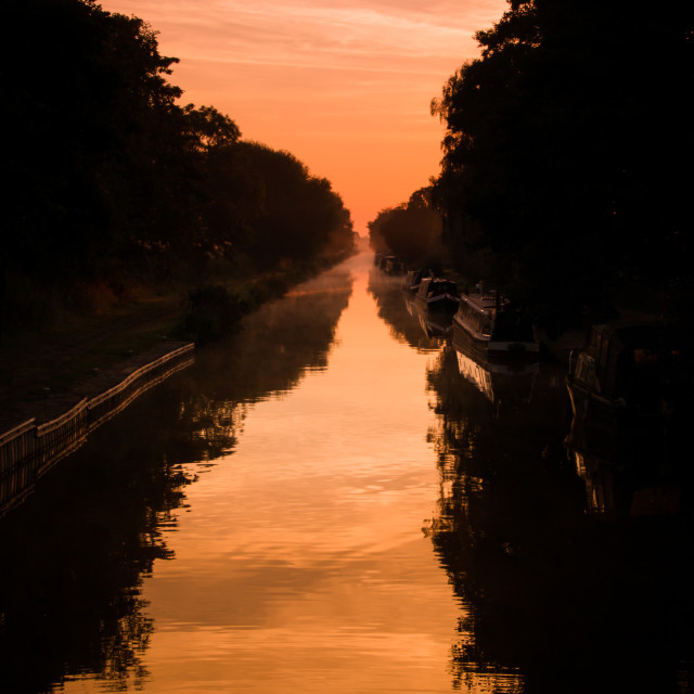 """Early morning canal"" stock image"