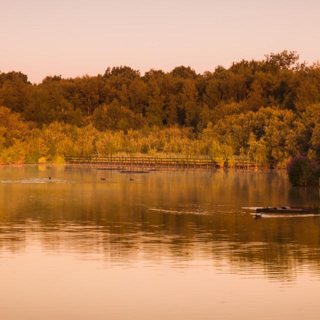 """Bradley Junction lake"" stock image"