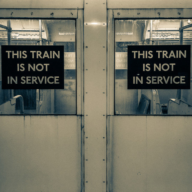"""""""Not in Service"""" stock image"""