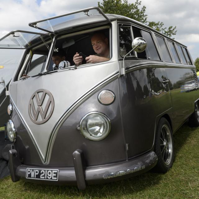 """""""VW camper van show 9"""" stock image"""