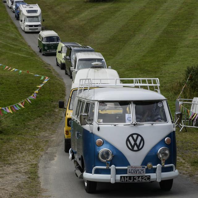 """""""VW camper van show 7"""" stock image"""