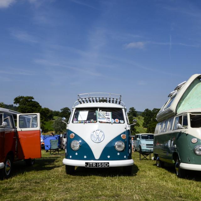 """""""VW camper van show 12"""" stock image"""