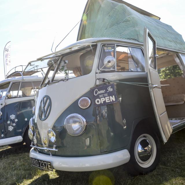 """""""VW camper van show 16"""" stock image"""