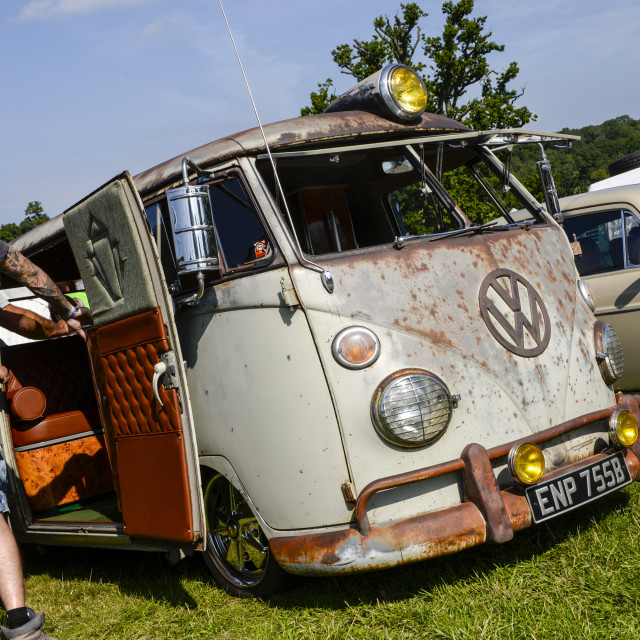 """""""VW camper van show 13"""" stock image"""