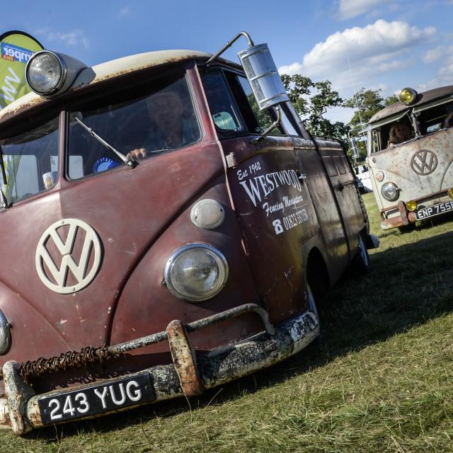 """""""VW camper van show 15"""" stock image"""
