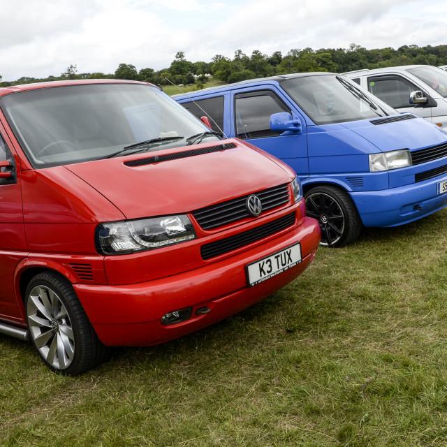 """""""VW camper van show 18"""" stock image"""