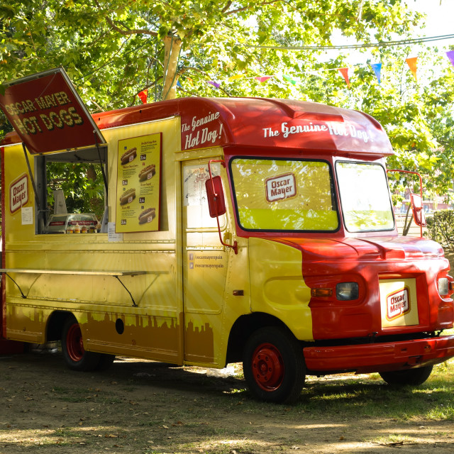 """Vintage food truck"" stock image"