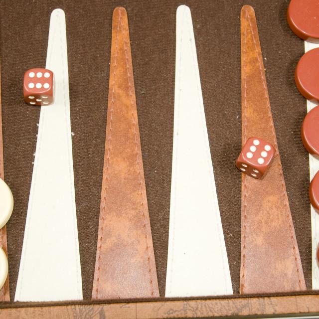 """Backgammon board game"" stock image"