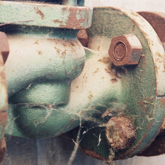 """""""A rusty water valve"""" stock image"""