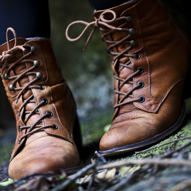 """Vintage boots"" stock image"