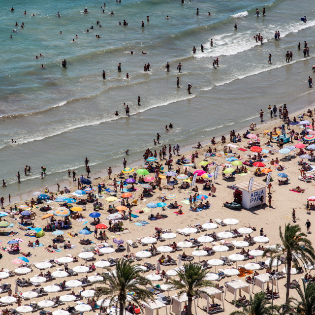 """Alicante Beach"" stock image"