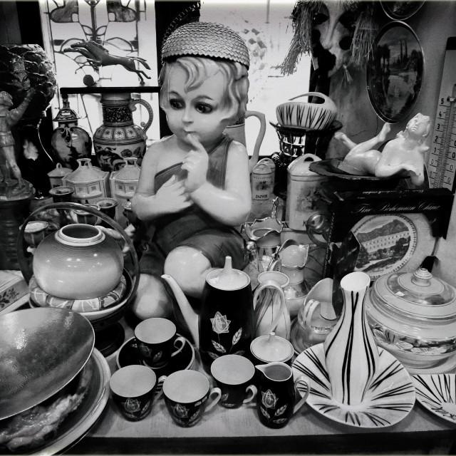 """""""Prague Antique Shop"""" stock image"""