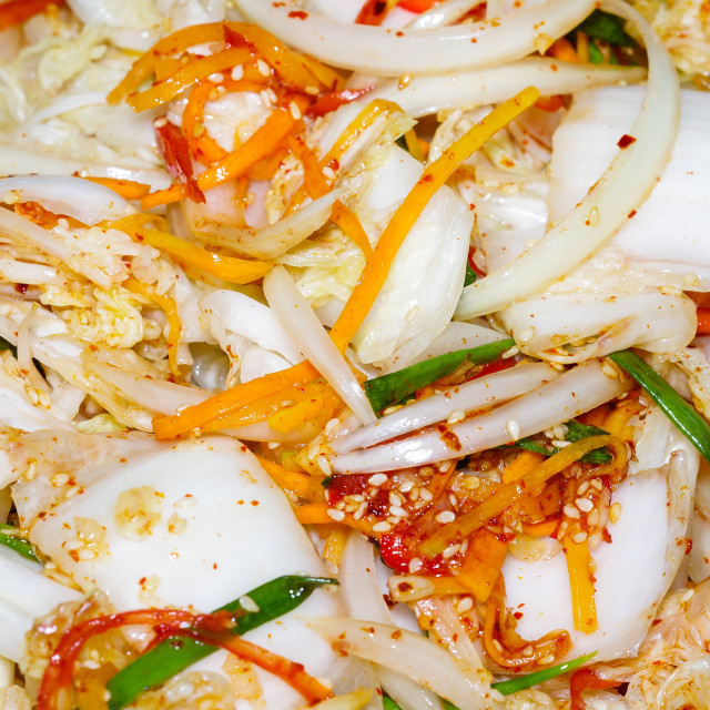 """Handmade korean pickled cabbage"" stock image"
