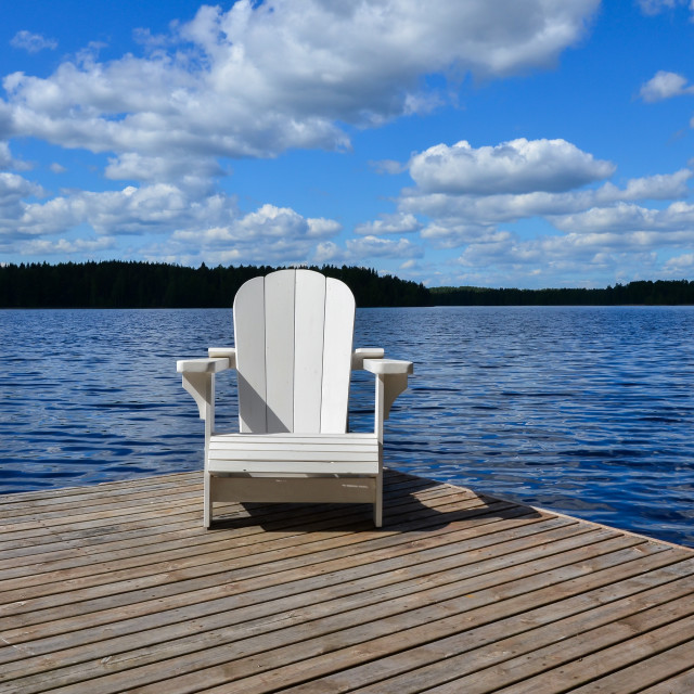 """Adirondack chair"" stock image"