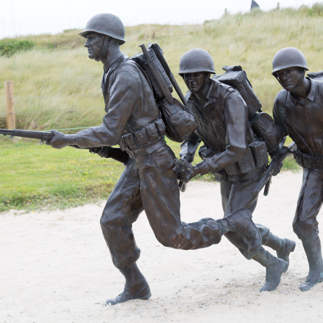 """Soldiers in Utah Beach"" stock image"