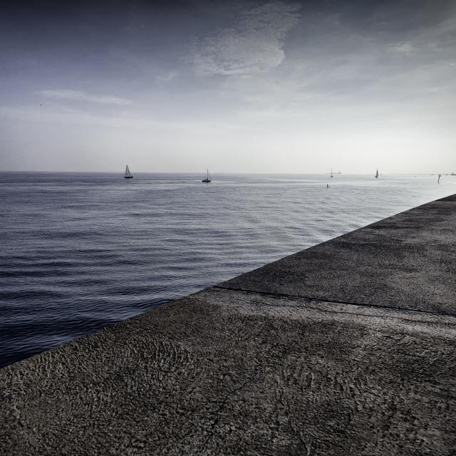 """Mediterranean Coast"" stock image"