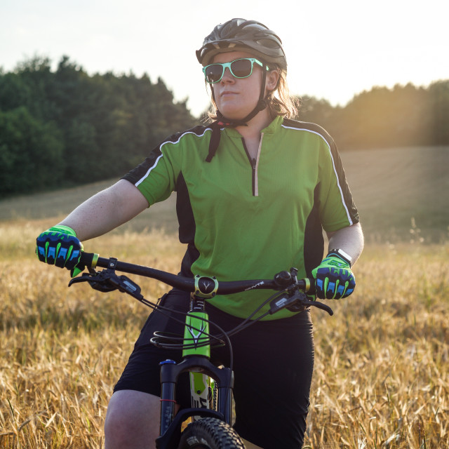 """Mountain Biker"" stock image"